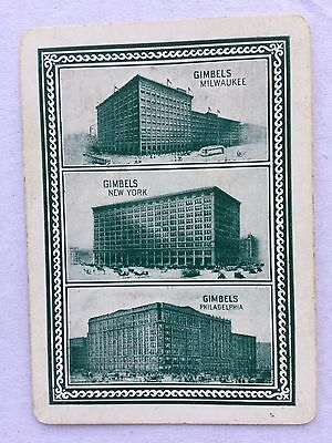 Vintage Old Wide Swap / Playing Card - Advertising - Gimbels Locations USA