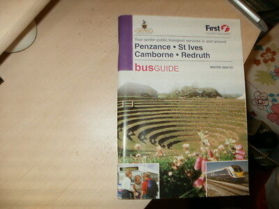 Western National,Cornwall;Penzance/Redruth area;114pge Bus Timetable;Winter 2002