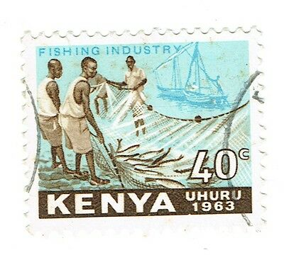 1963 Kenya - Fishing Industry - 40 Cent Stamp