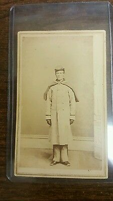 Union Civil War Soldier CDV Image Unidentified Trenton New Jersey Back Mark