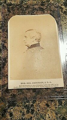 Union Civil War CDV Image of Robert Anderson Hero of Fort Sumter
