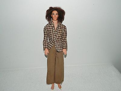 1970s Mattel Barbie Brunette Mod Hair Ken Doll