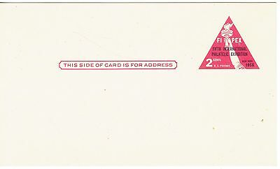 Pre-paid Postal Card - Fifth International Philatelic Expo  2 Cent Printed Stamp
