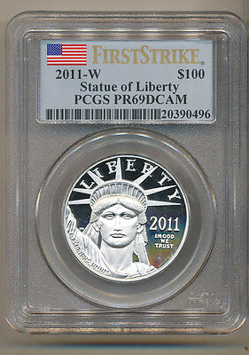 2011-W $100 Platinum Eagle PCGS PR69 FIRST STRIKE Proof American Eagle PF69 1oz
