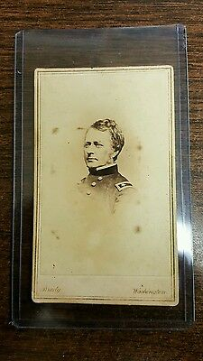 Union Civil War General Fighting Joe Hooker Matthew Brady CDV Image