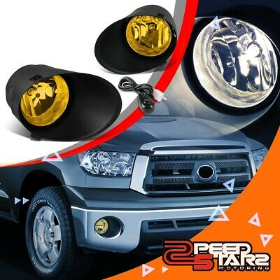 Amber/yellow Bumper Fog Light Lamp+Cover+Switch For 07-13 Toyota Tundra/sequioa
