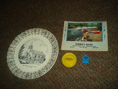 advertising lot Delavan MN Strobel Repair East Church plate Willette Lien