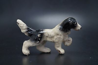 VTG Cast Iron HUBLEY Miniature ENGLISH SETTER Dog Party Favor