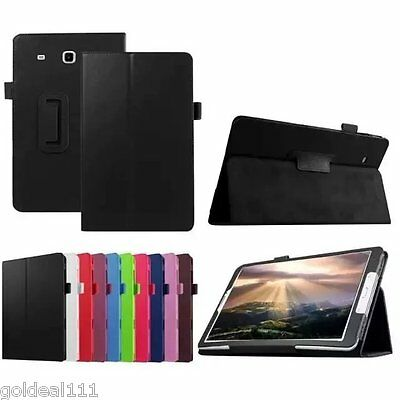 """New PU Leather Folio Magnetic Case/Stand Cover For Samsung Galaxy Tab E 8"""" T377"""