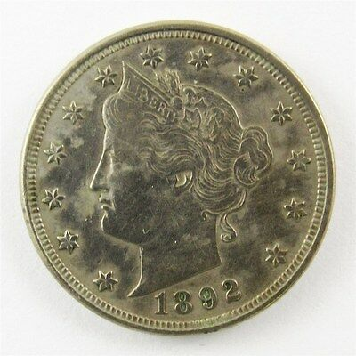 1892 Liberty Head V Nickel 5c