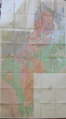 Geologic Map West Shasta Copper-Zinc District County California Summit City