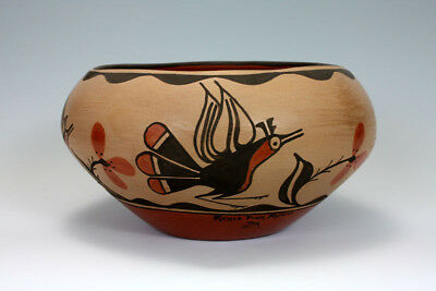 Zia Pueblo Native American Indian Pottery Large Bowl - Reyes Pino Medina