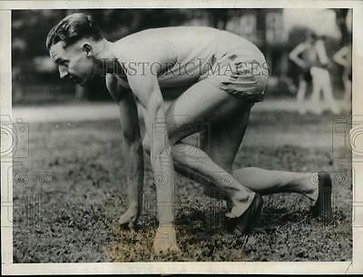 1928 Press Photo Percy Williams at the Olympic Games in Amsterdam - orc01623