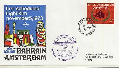 Bahrain / Airmail / K.L.M. Flights / Holland / Indonesia / Singapore.