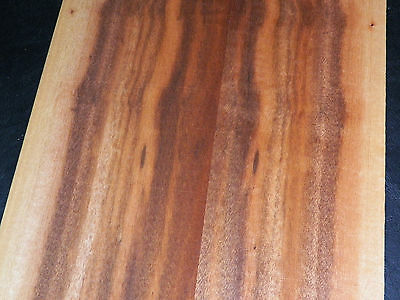 Tigerwood raw wood veneer, 4.75 x 15 inches, 1/42nd thick                7775-32