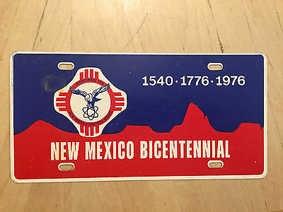 New Mexico Official  Bicentennial 1776 1976  Front Booster Novelty License Plate