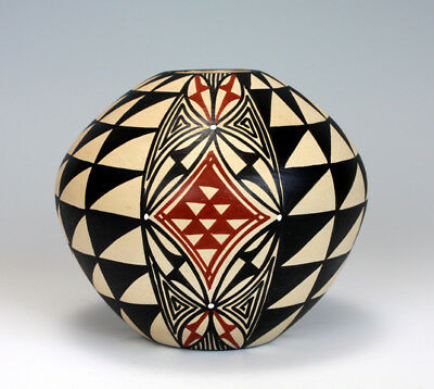 Jemez Pueblo Native American Indian Pottery Seed Pot Pauline Romero
