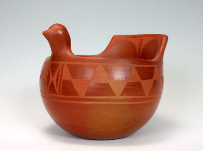 Santo Domingo Pueblo American Indian Pottery Bird Bowl - Raphaelita Aguilar