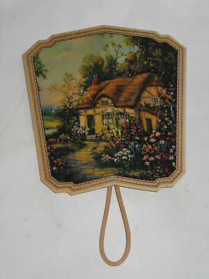 VINTAGE THOMAS FUNERAL SERVICE HAND FAN 1930s HOME ADVERTISING UNUSUAL MORTUARY