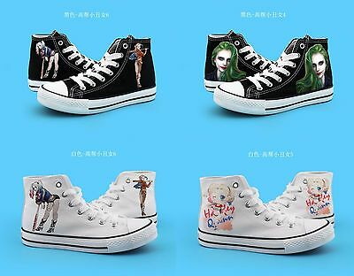 Suicide Squad Harley Quinn Casual Sneakers Canvas Shoes Unisex Game Cool