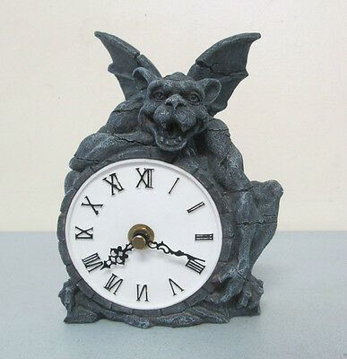 Gargoyle Resin Desk Clock Figurine Statue W.U.I. 2000