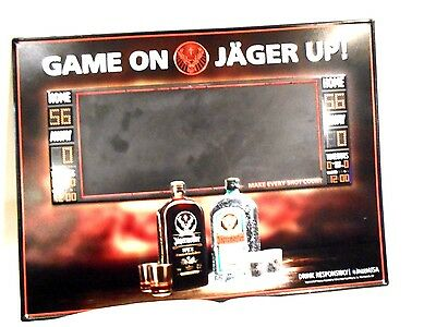 Jagermeister Game on Jager Tin Chalkboard Sign 24 x 18