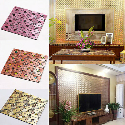 3D Panels Wallpaper Sticker Tile Wall Background Self-adhesive Decor Panelling