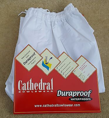 """CATHEDRAL Duraproof Waterproof White Lined Overtrousers Small 29""""I/L Marked B"""