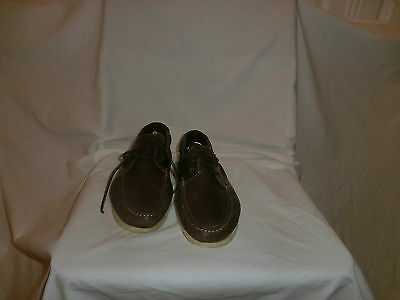Office Mens Brown Leather Lace Deck Shoes Size Uk 10