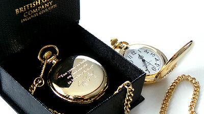 JEFF BUCKLEY Signed Engraved Custom Personalised Pocket Watch 24k Gold Plated