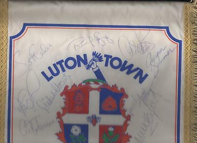 LUTON TOWN Large Signed Pennant late 1980's  FREE POST UK