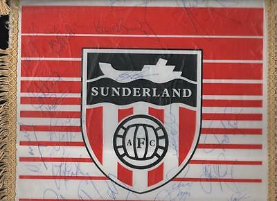SUNDERLAND AFC Large Signed Quality Pennant late 1980's Roker Park  FREE POST UK