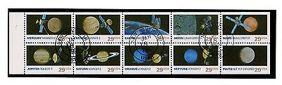 Space Exploration 1991 Sheet of 10 SC #2568-77 - USED CTO