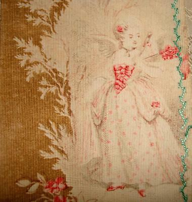 BEAUTIFUL FRAGMENT GENTLY FADED 19th CENTURY FRENCH ROCOCO TOILE, PROJECTS 1.