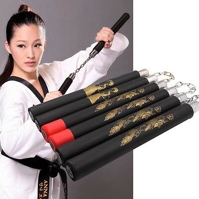 Fashion Martial Arts Foam Nunchucks Nunchakus Dragon Pattern Training Practice