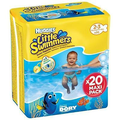 HUGGIES Maxi Pack Little Swimmers - Taille 2-3 - 20 Couches de bain