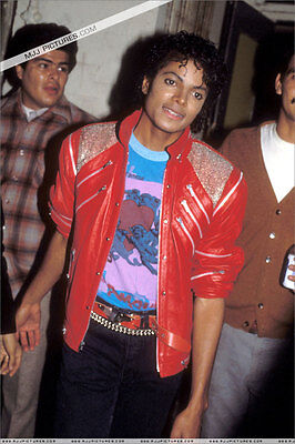 Michael Jackson Beat It Jacket Free MJ Badge