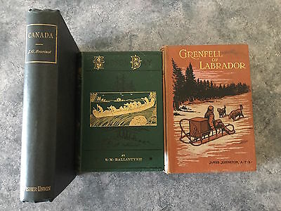 3 x books on the history of Canada