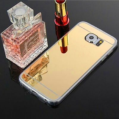 Luxury Ultra-thin TPU Gold Mirror Metal Case for Samsung Galaxy S7 Edge {mr6