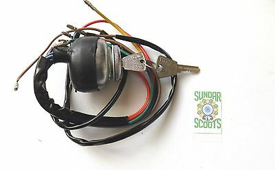 GP  AC 12v IGNITION SWITCH.2 BRASS KEYS - SUITABLE FOR LAMBRETTA SCOOTERS