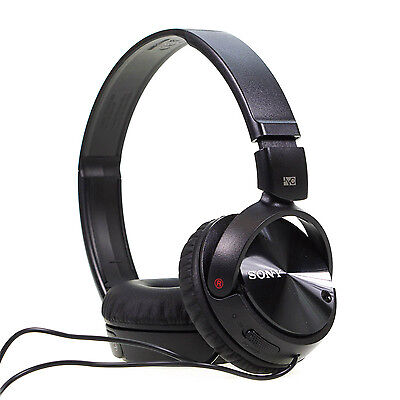 Sony - MDR-ZX110NA Noise Cancelling Foldable Headphone Headphones Black