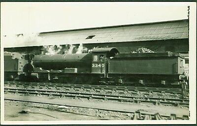 LNER Q6 Class 0-8-0 No. 3340 - (Ex NER T2 Class No. 1247). Postcard sized photo