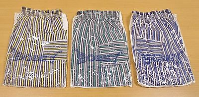 3 x VINTAGE 1970's UNWORN TELSALDA STRIPED TROUSERS ASSORTED COLOURS AGE 4 YEARS