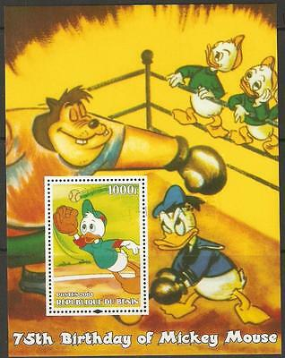 BENIN 2004 MICKEY'S 75th BIRTHDAY SHEETLET F/USED