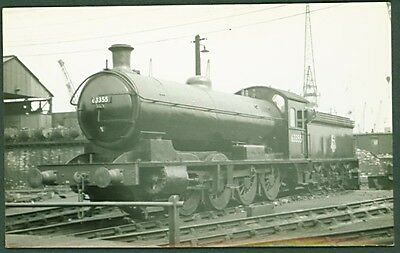 LNER Q6 Class 0-8-0 No. 63355 'at Middlesborough in 1955'. Postcard sized photo