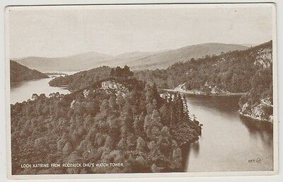 Stirlingshire postcard - Loch Katrine from Roderick Dhu's Watch Tower