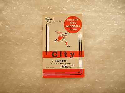 Exeter City v Southport Saturday 16th October 1971