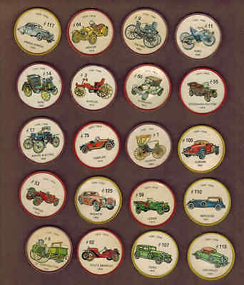 ANTIQUE CARS: Collection of 20 Scarce Canadian JELLO COINS (1960)7