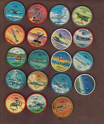 AVIATION, PLANES: Collection of 19 Scarce Canadian JELLO, HOSTESS COINS (1960)7