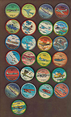 AVIATION, PLANES: Collection of 25 Scarce Canadian JELLO, HOSTESS COINS (1960)